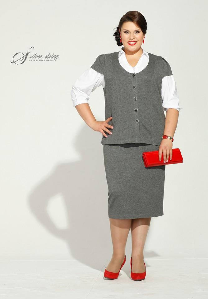 Костюм юбка с жилеткой для женщин фото
