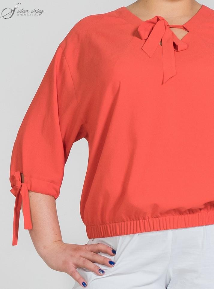 Блузка Спущенный Рукав
