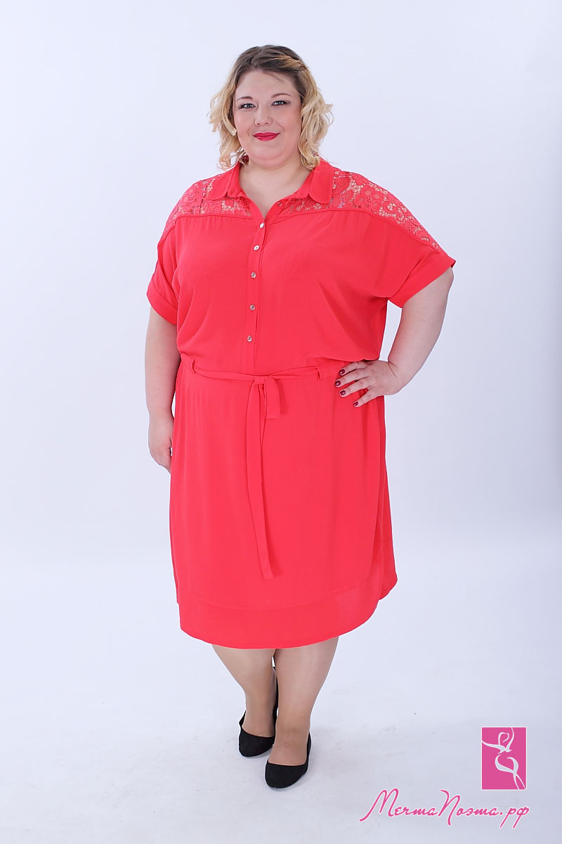 Купить Модное платье двойка большого размера